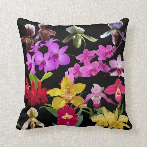 Orquídeas a montones cojín