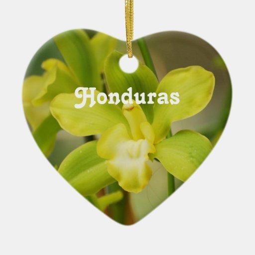 Orquídeas Adorno De Cerámica En Forma De Corazón