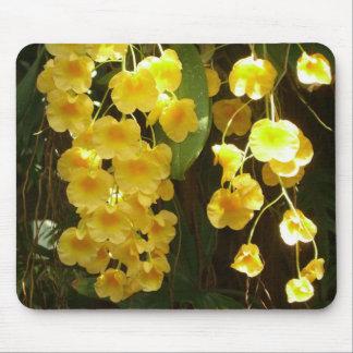 Orquídeas amarillas colgantes Mousepad Alfombrilla De Ratón