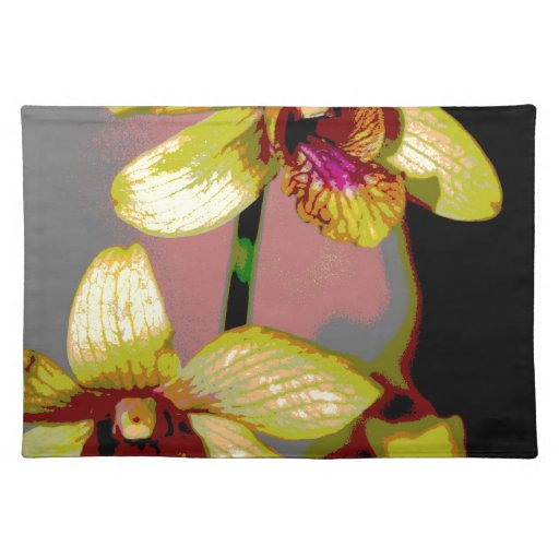 Orquídeas amarillas mantel individual