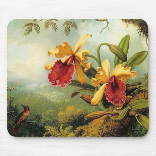 Orquídeas amarillas tapetes de raton