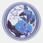orquídeas azules 2 recordatorios de la fecha pegatinas