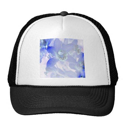 Orquídeas azules abril de 2013 gorros bordados