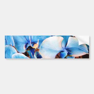 Orquídeas azules de Love_ Pegatina De Parachoque