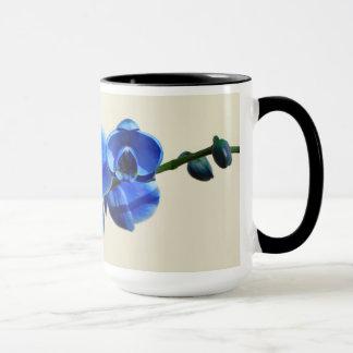 Orquídeas azules taza