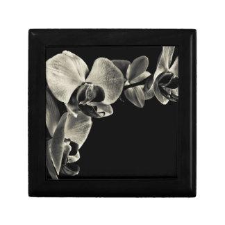 Orquídeas blancas caja de joyas