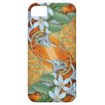 orquídeas blancas del caso del iPhone en fondo del Funda Para iPhone 5 Barely There