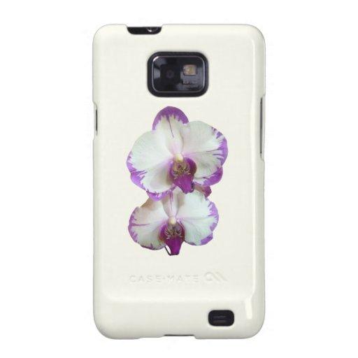 Orquídeas blancas del Phalaenopsis con los bordes  Samsung Galaxy SII Carcasas