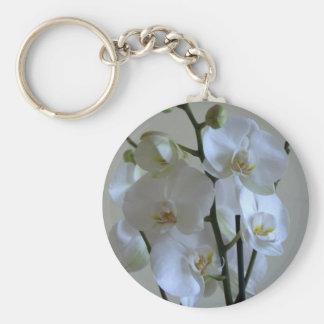 Orquídeas blancas llaveros personalizados