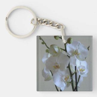 Orquídeas blancas llavero