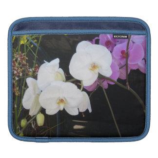 Orquídeas blancas manga de iPad