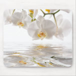 Orquídeas blancas Mousepad Alfombrillas De Raton