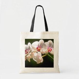 orquídeas blancas, plantación de la perspectiva, f bolsa tela barata