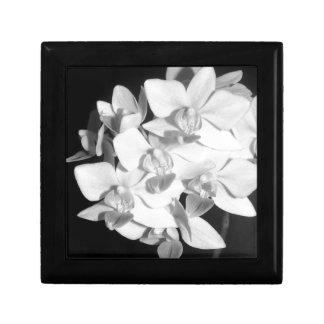 Orquídeas blancos y negros cajas de regalo