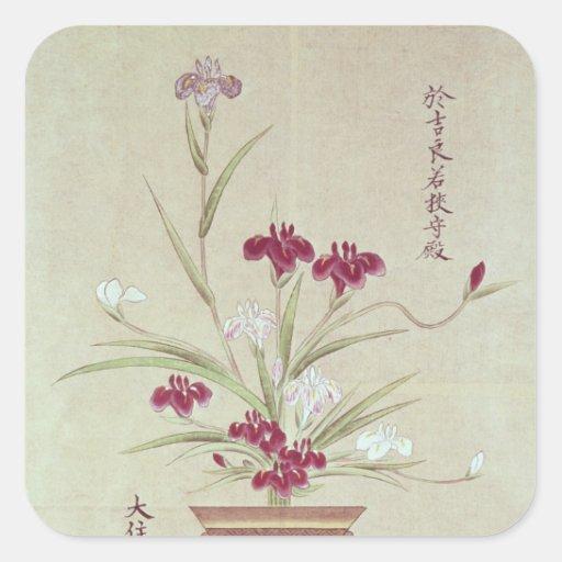 Orquídeas Calcomanía Cuadrada Personalizada