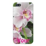 orquídeas de Dendrobian del rosa de la caja de la  iPhone 5 Fundas