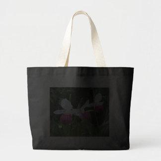 Orquídeas de deslizador de vagabunda del tote bolsa lienzo