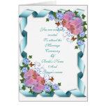 Orquídeas de la tarjeta de la invitación del boda