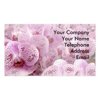 Orquídeas de mariposa hermosas tarjeta de visita