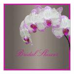 Orquídeas de polilla de PixDezines/fuschia Invitación