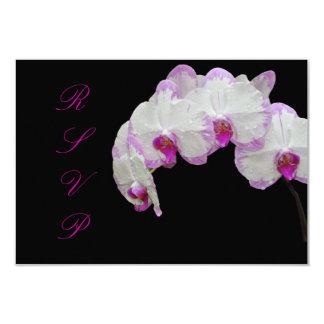 Orquídeas de polilla del rsvp de invitación 8,9 x 12,7 cm