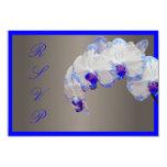 Orquídeas de polilla del rsvp de PixDezines/azul Comunicado Personalizado