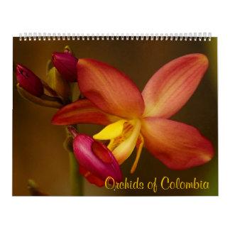 Orquídeas del calendario 2014 de Colombia