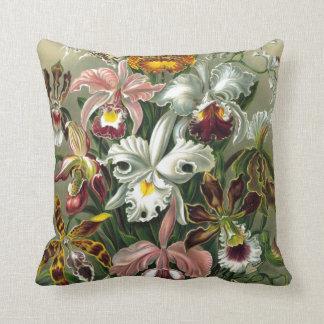 Orquídeas del vintage almohadas
