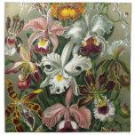 Orquídeas del vintage servilletas