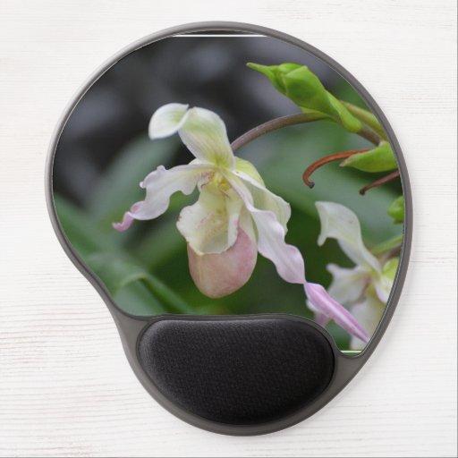 Orquídeas delicadas alfombrilla de ratón con gel