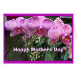 Orquídeas, día de madres feliz tarjetón