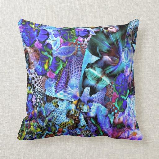 Orquídeas e iris abstractos almohadas