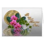 Orquídeas elegantes de la invitación del boda tarjetón