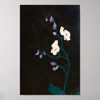 Orquídeas en la impresión de acrílico póster