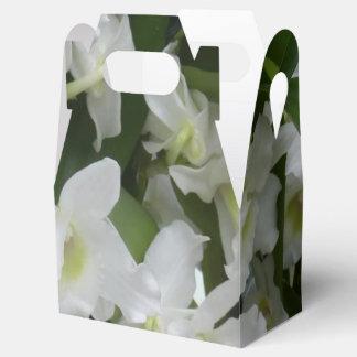 orquídeas fantásticas, blanco 01 cajas para regalos de boda