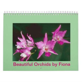 Orquídeas hermosas de Fiona Calendario De Pared