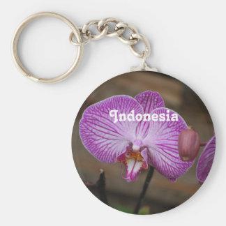 Orquídeas indonesias llavero personalizado