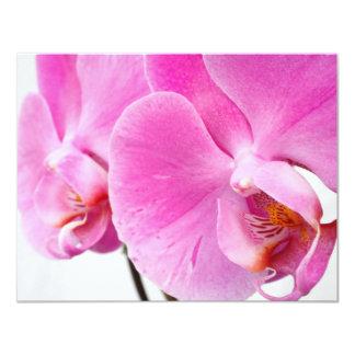 """Orquídeas Invitación 4.25"""" X 5.5"""""""