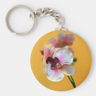 Orquídeas Llavero Redondo Tipo Pin