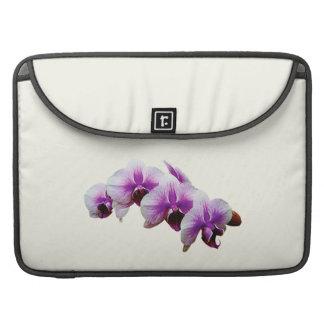 Orquídeas magentas y blancas fundas para macbooks