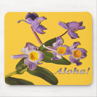 Orquídeas púrpuras - cojín de ratón de la hawaiana tapetes de ratón