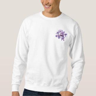 Orquídeas púrpuras con el rocío para hombre sudadera