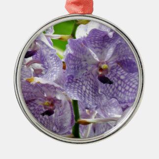 Orquídeas púrpuras ornamento de navidad