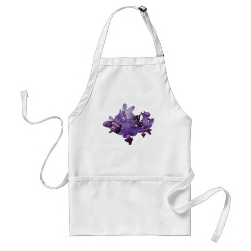 Orquídeas púrpuras delicadas delantales
