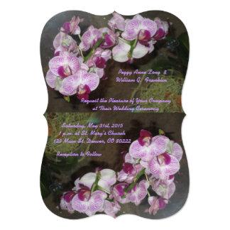 """Orquídeas púrpuras que casan invitaciones invitación 5"""" x 7"""""""
