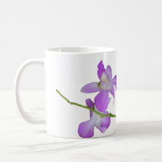Orquídeas púrpuras taza de café