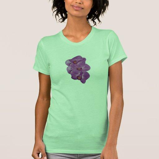 Orquídeas púrpuras vivas camisetas
