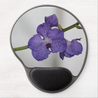 Orquídeas púrpuras y blancas alfombrillas de ratón con gel