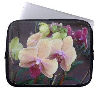 Orquídeas rosadas funda computadora
