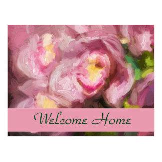 Orquídeas rosadas Impasto Tarjeta Postal